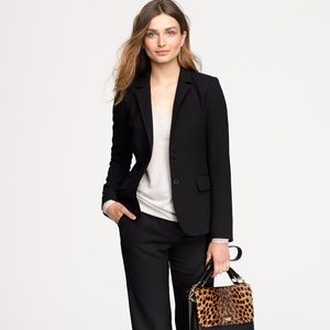 J. Crew Black One Pocket Stretch Blazer Size 8